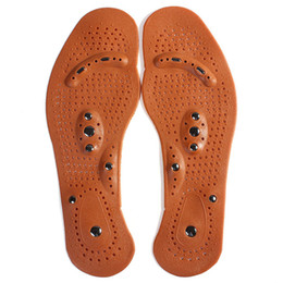 Wholesale Magnetic Health Massage Insoles - Magnetic insole care footbed magnetotherapy Foot Massage Magnet Therapy foot pain acupuncture points foot Health