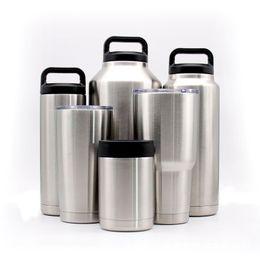 Wholesale Wholesale Paints - YETI 10oz 12oz 18oz 20oz 30oz 36oz 64oz Bottle Cup Mug Ounce Colster Spillproof Matte Coated Painted Colored with Clear Lid