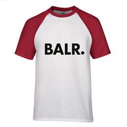 Wholesale Red Camo Shirts - hot sale Summer BALR patchwork Hem Camo T-shirt Men o neck streetwear Hip Hop Tshirts Tee Shirts Mens Clothing