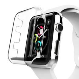 Relógio de plástico transparente on-line-PC transparente e slim case para iwatch series 1234 tampa de plástico para apple watch pc case proteger cobrir