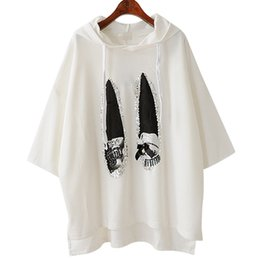 Wholesale Korean Sweatshirts For Women - 2017 Sweatshirt Pullover Hooded Loose Tops Hoodie for Women Harajuku Lace Up Hooded Sequins Casual Clothes Korean