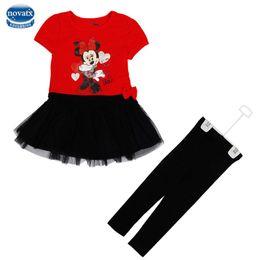 Wholesale Nova Baby Dress - Wholesale- New girls clothing sets baby dress Nova children clothing leggings+dress sets fashion cartoon mouse kids clothing 2016 WG0009