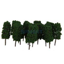Wholesale Plastic Train Trees - Wholesale- 50pcs Dark Green Cyclinder Tree Model Train Layout Park Scenery 1:100