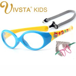 Wholesale eyeglasses child - Wholesale- IVSTA with Strap 0-5 years Small Baby Glasses for Children Eyeglasses TR90 Silicone Glasses Frames for Kids Optical Frame Soft