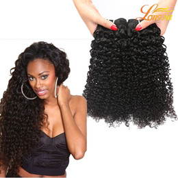 "Wholesale Kinky Hair Extensions Products - Longjia Products Brazilian Kinky Curly Hair Bundles Virgin Human Hair Weave 8""-26"" Natural Color 1B Deep Curly Hair Extension Free Shipping"