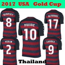 Wholesale Special Usa - 2017 2018 PULISIC United States Gold Cup Red Soccer Jerseys 17 18 Limited Edition Special USA DEMPSEY BRADLEY ALTIDORE WOOD Footbll Shirts