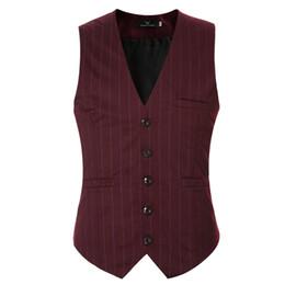 Wholesale Wedding Suit Grey Waistcoat - Wholesale- Men Suit Vest Black Grey V neck Collar Classic Dress Slim Fit Vests Male Sleeveless Brand Mens Formal Wedding Waistcoat 3XL