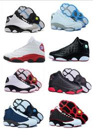 Futuro zapato de baloncesto online-Nike Air Jordan Retro Shoes caliente por mayor 13 zapatos de baloncesto Horizons Prm Psny Future zapatillas de deporte de los hombres de las mujeres del atletismo rosado 13s XIII