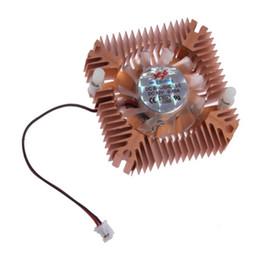 2019 ventilatore da 55 mm Il materiale di raffreddamento del dissipatore del dissipatore del materiale del metallo durevole all'ingrosso 55mm per la scheda video della CPU VGA per il computer del PC libera il trasporto ventilatore da 55 mm economici