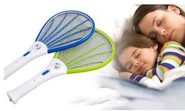 Wholesale Control Bugs - 30pcs Mosquito Nets Swatter Bug Insect Electric Fly Zapper Killer Racket Rechargeable With LED Flashlight Household Sundries Pest Control