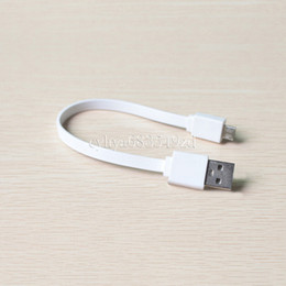 Wholesale Micro Power Bank - 20CM long charger short MICRO cable whit color for power bank smart phone usb cable smartphone HTC SONY
