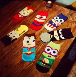 Wholesale Marvel Dresses - 2017 Fashion High Quality Men Fashion Cotton Sock MARVEL COMICS Super Hero Crew Ankle Casual Dress Socks