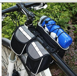 Wholesale Bicycles Etc - 4 in 1 Bicycle bags bike cycling bag packet for camera cell phone etc with belt black