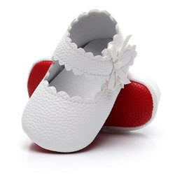 Wholesale Toddler Red Ballet Shoes - Wholesale New 2017 Spring Summer Baby Girls Kids Newborn red bottom Princess Ballet Dress Shoes Mary Jane Shoes Prewalkers Infant Toddlers