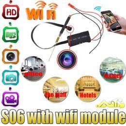 Wholesale Super Mini Wireless Camera - HD 1080P Mini Super Small Portable Hidden Spy Camera P2P Wireless WiFi Digital Video Recorder for IOS Android Phone APP Remote View S06