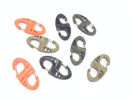 Wholesale Wholesale Plastic Keyrings - Multipurpose Black Plastic S-Biner Clip For Bracelet Carabiner S Keychain Mini S hook keyring Bulk Package