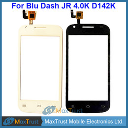 "Wholesale Wholesale Dash Touch Screen - Top Quality 4.0"" For BLU Dash JR 4.0K D142K D143K Touch Screen Digitizer Front Glass Panel Sensor Black White Color"