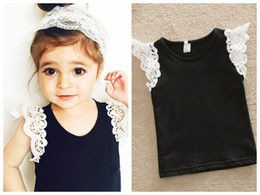 Wholesale Lace Tank Tops Toddler - High quality instagram hot sale 2017 summer 6months to 5years baby toddlers lace sleeved tank tops singlets girls lace vests