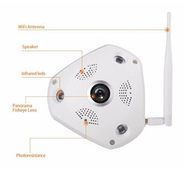 Wholesale Infrared Security System Home - LS-QJ360 360 Degree VR Panorama Camera CCTV HD 960P Wireless WIFI IP Camera Home Security Video Surveillance System Camera Webcam ann
