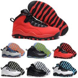 Wholesale X Men Latex - [With Box] Cheap Air Retro 10 Paris NYC CHI Rio LA Hornets City Pack Vivid Pink 10s Men Basketball Shoes Sneakers Retro X Sports Shoes 41-47