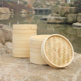 Wholesale 3 inch Bamboo Steamer Cage Various Specifications Bamboos Decating Advanced Snacks Restaurant Tea Natural Steam Box Simple gf