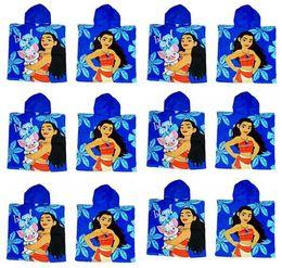 Wholesale Cartoon Girls Bath Towels - Moana Cloak Towels Boys Girls Cotton 60*120cm Cartoon Pattern Bath Towel Kids Cartoon Printed Towels For Swimming Best Gfits Free Shipping
