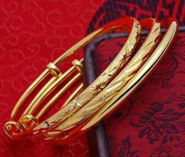 Wholesale 24k Gold Bracelets For Women - Copper Plated 24k Gold Bracelet Wedding Star Durable Color Bracelets Fashion Jewelry for Women Lucky Gift Hot Style Wholesale