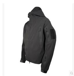 Wholesale Camo Camp Coats - Men Outdoor Sport Camo Jackets Tactical Softshell Jacket Outdoor Sports Hunting Waterproof Hiking Jacket Camping Coat TAD Athletic