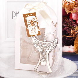 Wholesale Souvenir Angels - Creative Angel Design & Cross shape Bottle Opener Wedding In Return Gifts Wedding Souvenir Small Gifts Metal Opener S201758