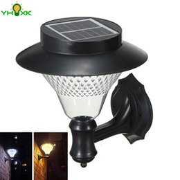 Wholesale Outside Home Lighting - Wholesale- Solar Light LED Wireless Street Light Outdoor Security Light For Patio Deck Yard Garden Home Driveway Stair Outside Wall Pathway