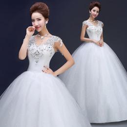 Wholesale Korean Wedding Dress Image - 2017 spring new Korean high waist diamond sweet pure white lace wedding dress
