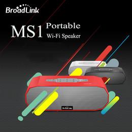Wholesale Passive Radiators - Wholesale- Hot BroadLink MS1 Speakers Wireless Mini Portable Intelligent Home Audio System Ndfeb Magnet Dual Stereo +Dual Passive Radiator