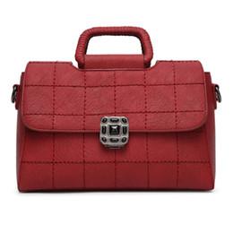 Wholesale Womens Crossbody Leather Bags - Brand Designer Leather Women Shoulder Bag Lady Vintage Fashion Handbag Female Crossbody Bags Womens Bolsas Sac a Main