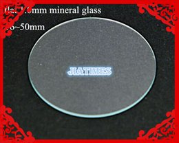 Wholesale Crystal Mineral Wholesalers - Wholesale-Wholesale 100pcs 1.0MM Thick Flat Mineral Watch Glass Select Size from 16mm to 50mm for Watchmakers and Watch Repair