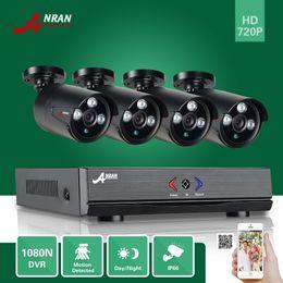 Wholesale Ir Waterproof Surveillance Camera - ANRAN Surveillance 4CH HDMI 1800N AHD DVR 1800TVL 720P 3 Array IR Night Outdoor Waterproof Bullet Video Security Cameras CCTV Systems