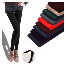 Wholesale Thickening Pantyhose - Wholesale- New Fashion Candy Color Female Pantyhose Nylon Thicken Sexy Stocking Women Autumn Winter Warm Tights