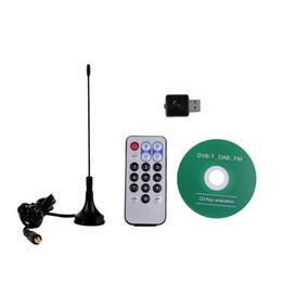 Wholesale Usb Dvb T Tuner - 2017 Mini Digital USB TV Stick FM+DAB DVB-T Support SDR Tuner Receiver Wholesale