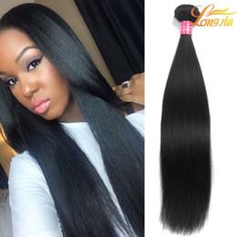 Wholesale hair charms - 7A Peruvian Virgin Straight New Arrival Human Hair Natural Color 1B# Weave Peruvian Straight Hair Bundles Deals Charming Queen Hair