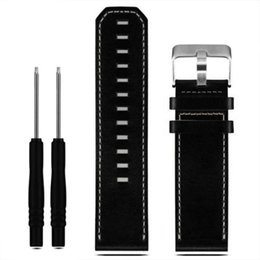 Wholesale Leather Tools Wholesale - Wholesale-Luxury Leather Strap Replacement Watch Band With Tools For Garmin Fenix 3 100% Brand new Free Shipping Sep14
