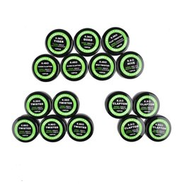 Wholesale wire wrapping - Flat twisted wire Fused clapton coils Hive premade wrap wires Alien Mix twisted Quad Tiger 10pcs box for RDA RDTA RTA