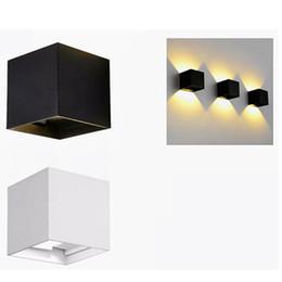Wholesale Cube Aluminum - Waterproof Cube COB LED Light Wall Lamp Modern Home Lighting Decoration outdoor wall lamp Aluminum 7W AC 85~265V Lemonbest