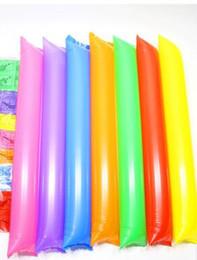 artigos de plástico Desconto 60 cm badalo ballon beach Varas Infláveis cheerleading esportes jogo up vara partido vara do ventilador de concerto torcendo vara inflável