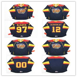Wholesale Custom Blank Jerseys - Men's Erie Otters #12 Alex DeBrincat #97 Connor McDavid # Blank Stitched Hockey Jersey,Custom your name and number