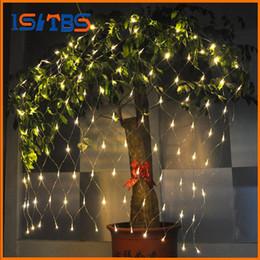 Wholesale Decoration Led Candle Lamp - String Light 120 LED 1.5*1.5M Christmas Wedding Party Decoration Lights AC 110V 220V outdoor Waterproof led lamp