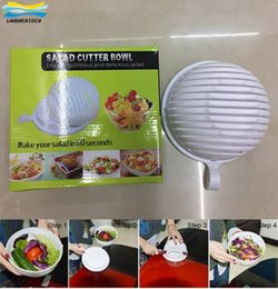 Wholesale Easy Chopper - 60 Second Salad Spinner Best Salads Cutter Tools Bowls Easy Salad Fruit Vegetable Washer And Cutter Quick Salad Maker Chopper DHL Free