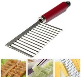 Wholesale Chinese Vegetable Peeler - Potato Corrugated Knife Stainless Steel Plastic Handle Potato Chips Multifunctional Vegetable Fruit Cutting Peeler Cooking Tool 50pcs lot