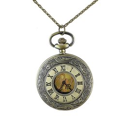 Wholesale New Designs Vintage Jewelry - Vintage Jewelry Watch Pendant Necklace Roman Numerals Fashion Elegant Design Round Pocket Watch for Men and Women