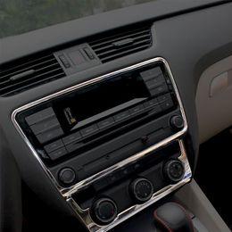 Wholesale Console Decorations - Car Styling Interior Dashboard Center Console CD Decoration Cover Sticker For Skoda Octavia A7 2015 2016 2017 Auto Accessories