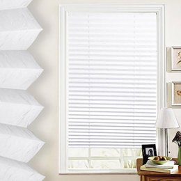 Wholesale Vertical Blinds Windows - Wholesale-Anti-UV Window Blinds Pleated Original Pleated White Polyester Shade Curtains-k