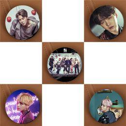 Wholesale Kpop Hats - Wholesale- Youpop KPOP BTS Bangtan Boys WINGS Album Brooch Pins K-POP Badge Accessories For Clothes Hat Backpack Decoration HZ1852
